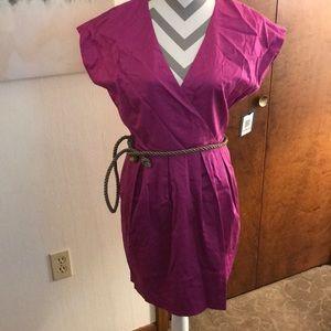 Cap sleeves pink dress
